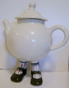 Lustre Pottery Walking Ware 2007 Studio Teapot 2  - SOLD